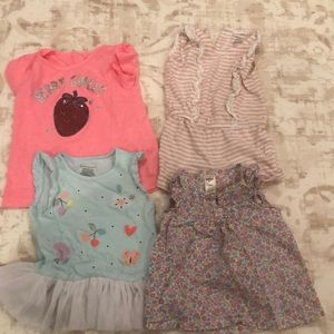 Baby girl size 18month-24 month shirts